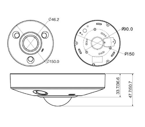 Telecamera 360° IPC-EBW8600