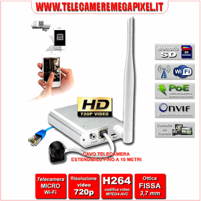 IPC-HUM8101 - Telecamera Occultabile Megapixel Professionale HD 720P con NVR Digitale Integrato - WIFI