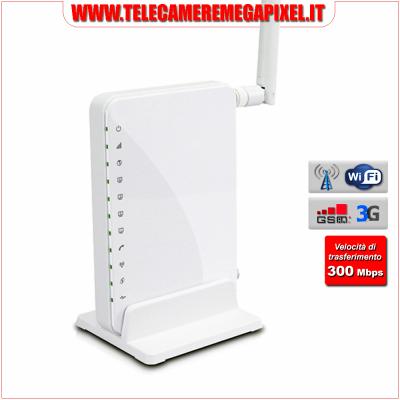 WN-RTR3G1L - Router 3G - Ethernet - Wifi - attivazione remota 3G tramite SMS