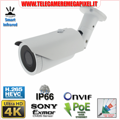 Telecamera 4k Ultra HD codec h265