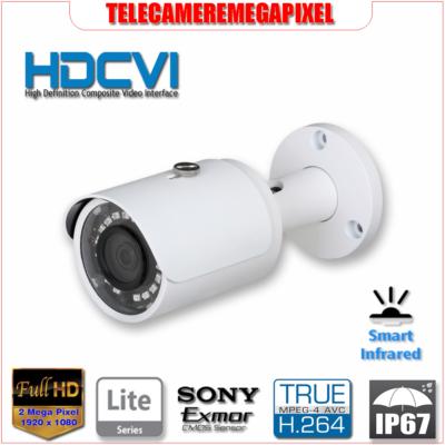 HAC-HFW1220S - Telecamera 2 Megapixel - Full HD - HDCVI - smart INFRARED - IP67