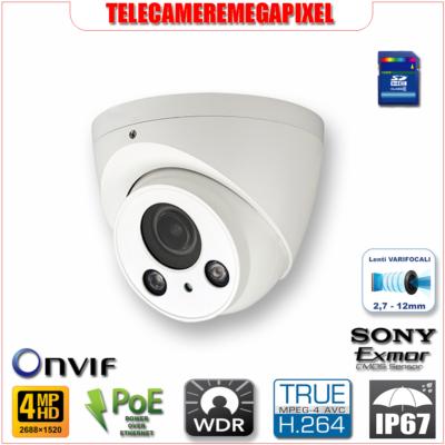 IPC-HDW2421R-ZS - Telecamera - 4 megapixel - H264+ - WDR - IP67 - Memoria SD