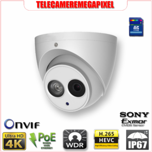 IPC-HDW4830EM-AS - Telecamera - 8 megapixel - H265 - IP67 - Memoria SD