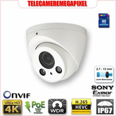 IPC-HDW5830R-Z - Telecamera 8 megapixel - lenti motorizzate - codec H265