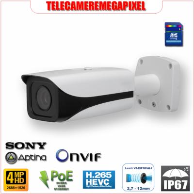 IPC-HFW5421E-Z - Telecamera Dahua - 4 megapixel - lente motorizzata 2,7-12mm - codec H264
