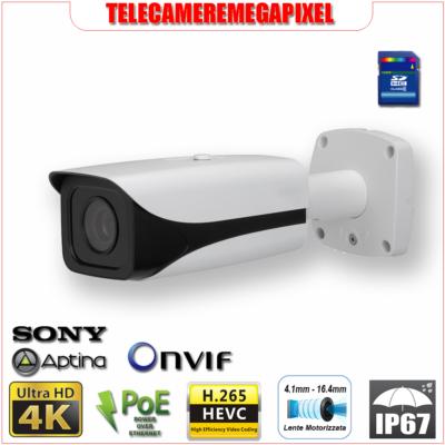 IPC-HFW81230E-Z - Telecamera Dahua 4K Ultra HD – 12 Megapixel – Varifocale 4,1-16,4 mm – Codec H265 H264