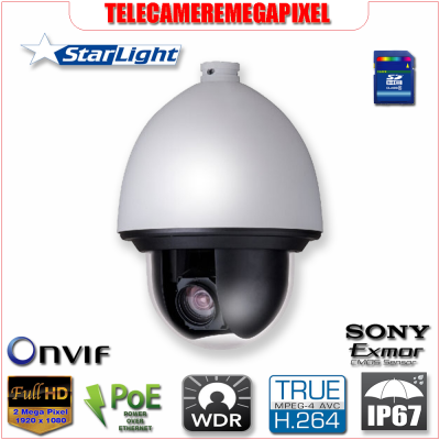 SD65F230F-HNI - Telecamera - 2 megapixel - Full HD 30x- Dome PTZ - Starlight