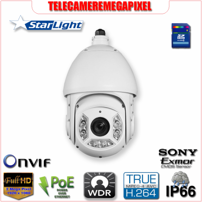 SD6C220T-HN - Telecamera - 2 megapixel - Dome PTZ 360° - Starlight - 20x - H264
