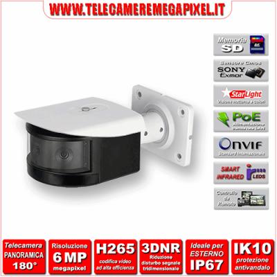 IPC-PFW8601-A180 - Telecamera panoramica dahua - 6 megapixel - Starlight - IP67 - Memoria SD