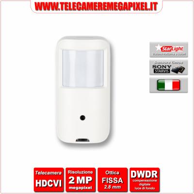 HAC-HUM1220A-PIR - Telecamera HDCVI - 2 Megapixel - Starlight - PIR