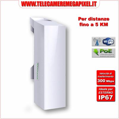 Ponte-WN-PNTRD3-300-5KM Ponte Radio - 300 Mbit - 5Ghz - Per distanze fino a 5 KM