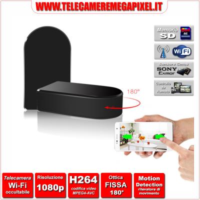 WN-502W-02 Telecamera Spia Wi-Fi occultabile - Risoluzione 1080P - Ottica fissa 180°