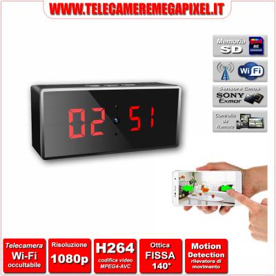 WN-512W-02 Telecamera Spia Wi-Fi occultabile – Risoluzione 1080P – Ottica fissa 140°