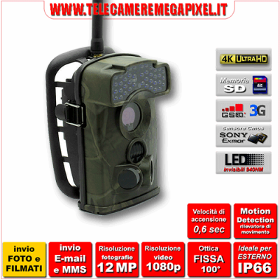 Fototrappola Professionale INVIO FOTO e VIDEO Ltl-6310WMG-3G