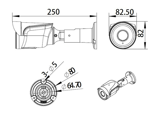 Kit Videosorveglianza telecamera bullet varifocale
