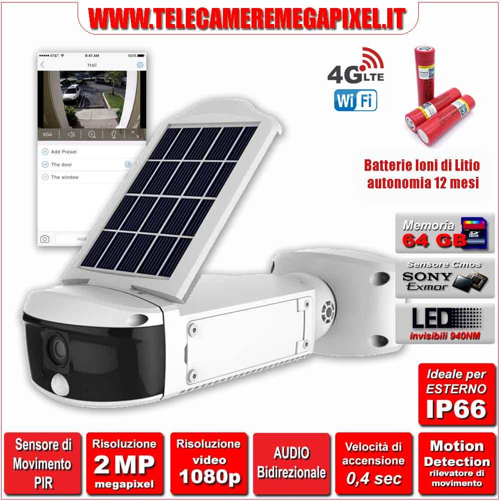 Pannello Solare Integrato Quality : Telecamera con pannello solare integrato audio
