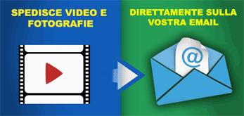 Fototrppola invio video tramite email