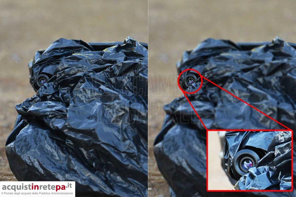 Fototrappola abbandono rifiuti targhe
