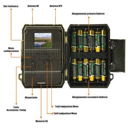 WN.40CM fototrappola 4g gps invio filmati e foto