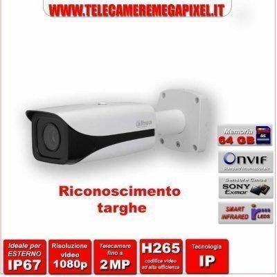 telecamera rilevamento targhe dahua