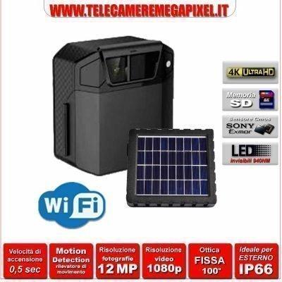 fototrappola pannello solare