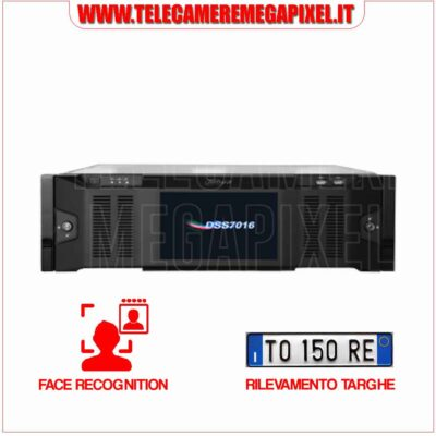 Server Dahua DSS7016D FACE RECOGNITION - RICONOSCIMENTO TARGHE