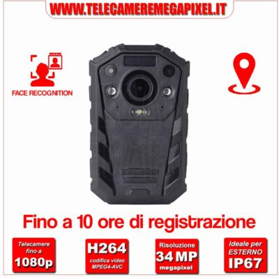 Bodycam Dahua MPT110 - FACE RECOGNITION