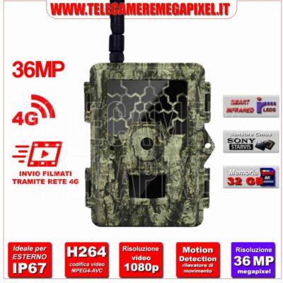 Fototrappola Professionale 36MP - 4G WN-45CM