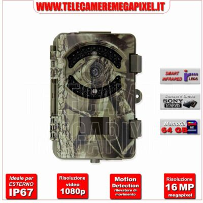 Fototrappola Professionale 16MP-1080p full HD WN-20C