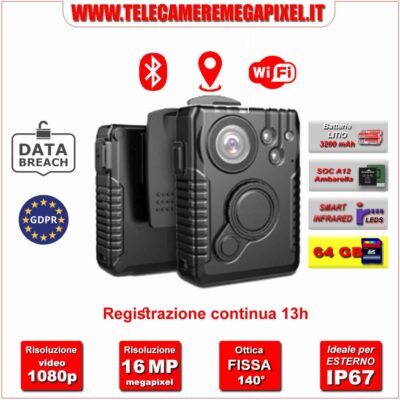 Body Cam conforme GDPR Privacy