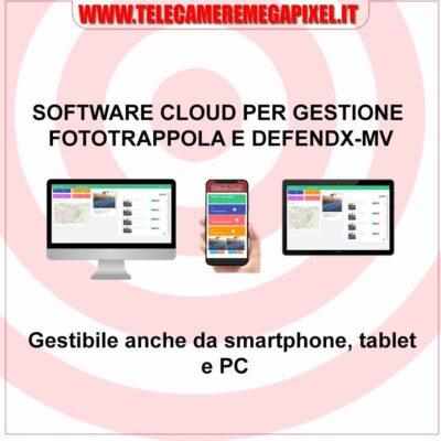 Software Cloud per gestione fototrappola e defendx-mv